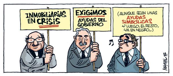 Viñeta de Manel Fontdevila sobre la crisis inmobiliaria
