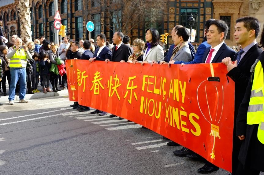Desfile del Año Nuevo Chino enBarcelona